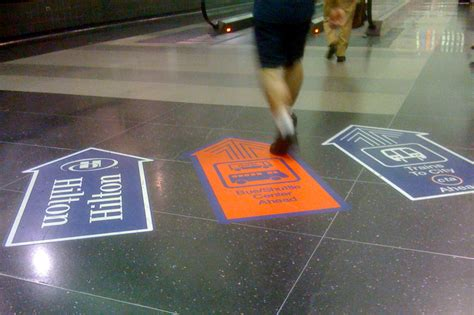 wayfinding on the floor