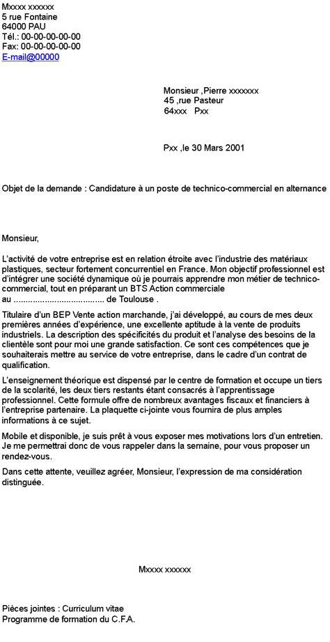 Lettre De Motivation école Technico Commercial Pdf Lettre De Motivation Technico Commercial