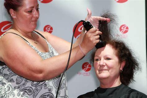 headshave charity organizations head shaving in preston shopping centre helps hospice