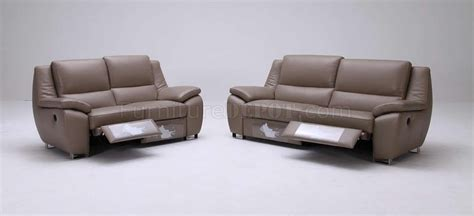 Modern Leather Recliners by Brown Leather Modern 3pc Sofa Set W Electrical Recliners