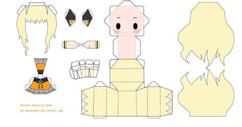 Anime Chibi Papercraft - papercraft anime chibi