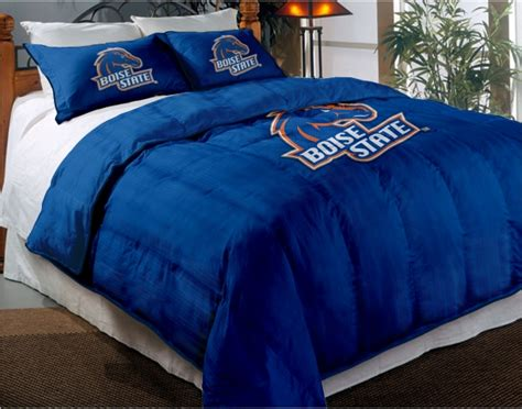 broncos comforter boise state broncos college twin chenille embroidered