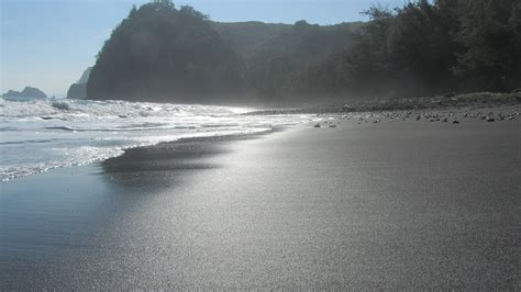 beach with black sand punaluu black sand beach hawaii island romantic black