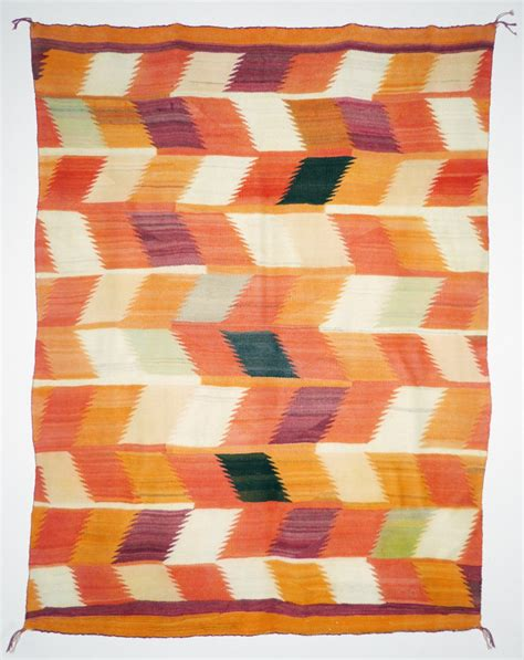 santa fe rugs and blankets orange and yellow diamonds blanket c 1890 shiprock santa fe