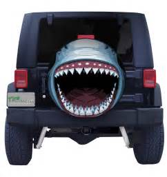 Custom Jeep Wrangler Tire Covers Great White Shark Spare Tire Cover