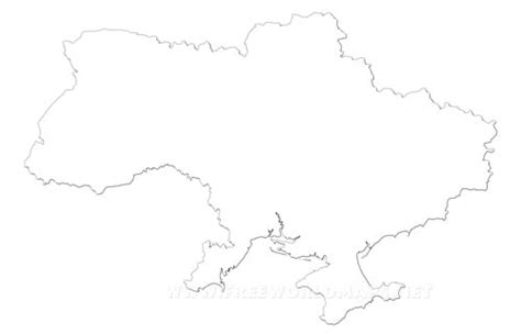 Ukraine Outline Map by Ukraine Political Map