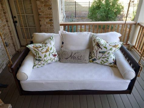 bed swings for porches porch swing bed images