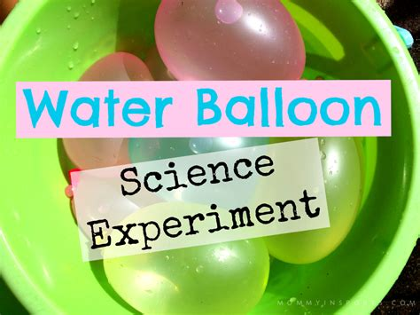 Water balloon science experiment video kristen hewitt