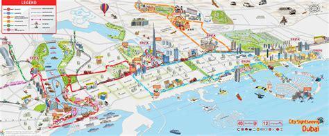 map of dubai city sightseeing dubai route map