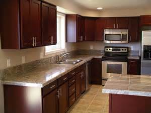Kitchen Countertops And Cabinets by Cherry Kitchen Cabinets With Granite Countertops Home