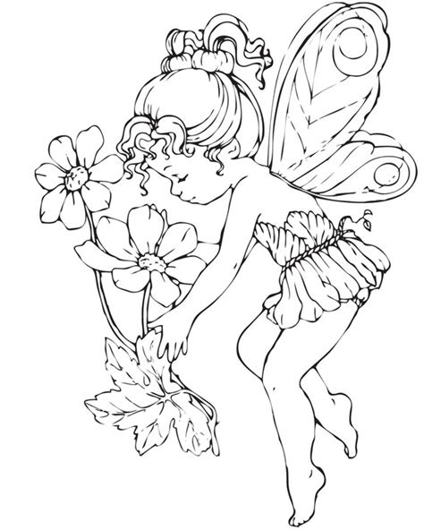 coloring pages for adults of fairies free coloring pages of