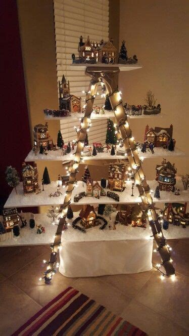 christmas village ladder display image result for ladder display plans crafts