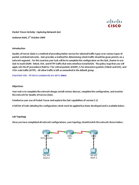 cisco packet tracer tutorial dailymotion qos cisco packet tracer tutorial docshare tips