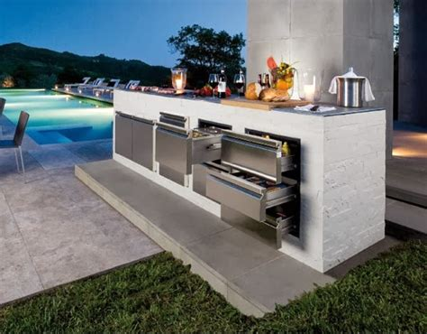 modern outdoor kitchen design for minimalist house home