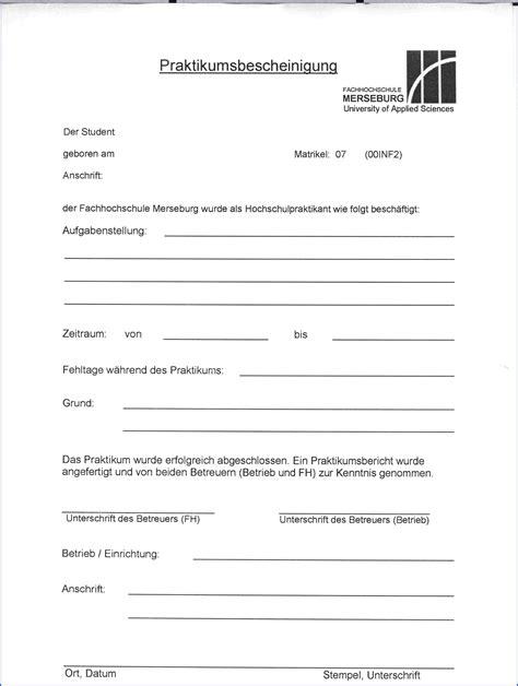 Muster Praktikumsbescheinigung 6 Praktikumsbescheinigung Muster Expense Report