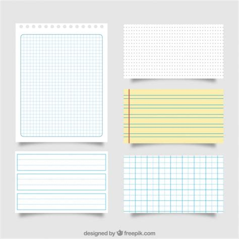 great sheets great pack of different paper sheets vector free download