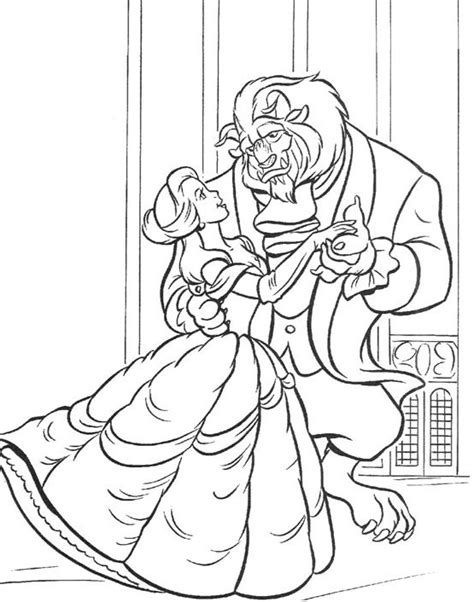 beauty and the beast printing coloring pages printable disney beauty and the beast coloring pages for