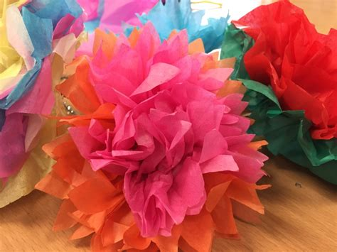 Tissue Paper Flowers Craft - tissue paper flowers my kid craft