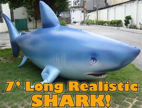 Design Cups Giant 7 Inflatable Shark The Green Head