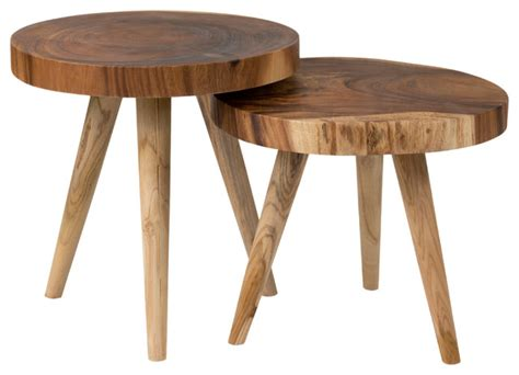 tropical accent tables east at main s montreal brown round teakwood accent
