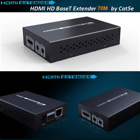 Saintholly Hdbaset Extender Cat5e 6 Support Poe new hdbaset hdmi extender cat5e 6 cable hdmi extender ir hdmi 1 4v up to 70m 3d