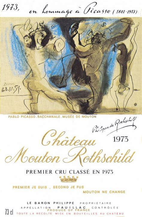 ch 226 teau mouton rothschild the labels room mouton rothschild 1973 pablo picasso