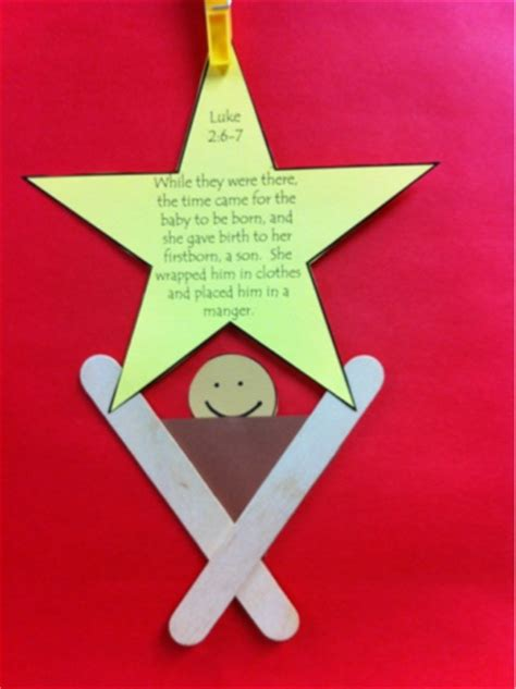 manger craft for keeping up with kindergarten late freebie