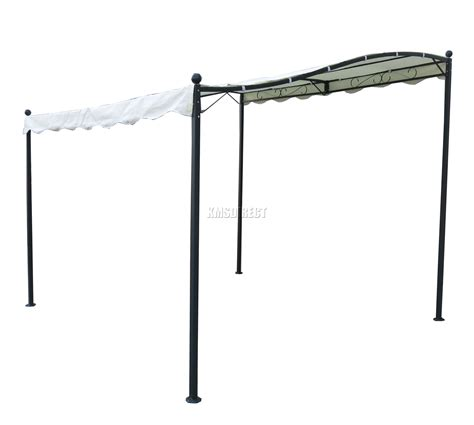 Wand Pavillon Metall by Foxhunter Metal Wall Gazebo Awning Garden Marquee Canopy