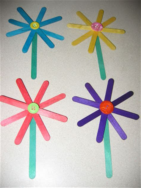 easy craft stick projects preschool crafts for easy craft stick flower craft
