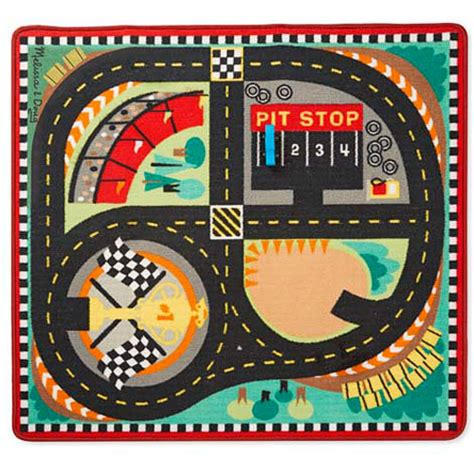 Round The Race Track Rug 9401 Melissa Doug Another Race Track Rug