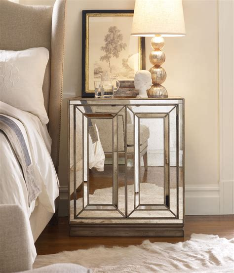 Affordable Mirrored Nightstand Nightstands Ideas Cool White Black Small Mens Bedroom Ideas Applying Clear Glass Side Wall