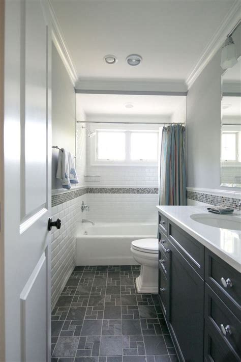 long narrow hall bath layout idea mirror image