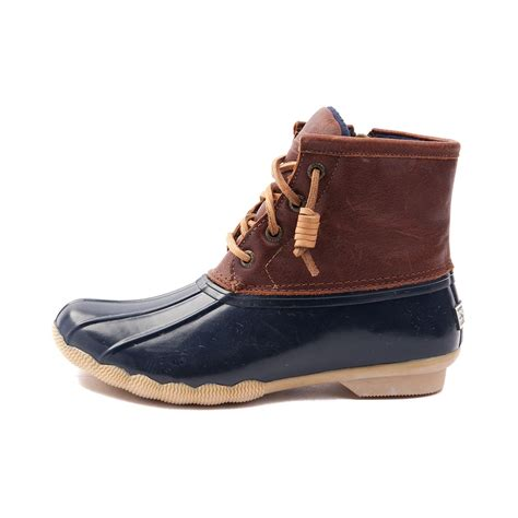 womens sperry boots womens sperry top sider saltwater boot brown 583631
