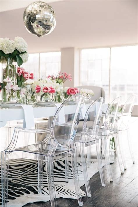 Design Acrylic Dining Chairs Ideas 33 Lucite And Acrylic Furniture Ideas For Modern Spaces Digsdigs