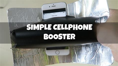 simple diy cellphone booster youtube