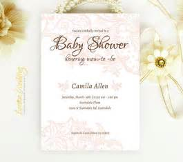 lace baby shower invitation from lemonwedding on etsy