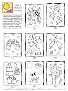 mini coloring book printable camp doll diaries laura kelly mini doodle pages doll