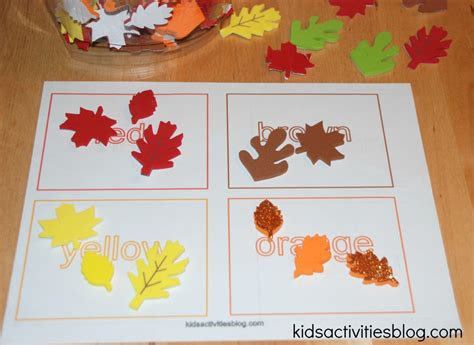 printable leaves for sorting printable color activities and sorting activity with fall