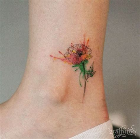 watercolor tattoos on foot 25 best ideas about watercolor poppy on