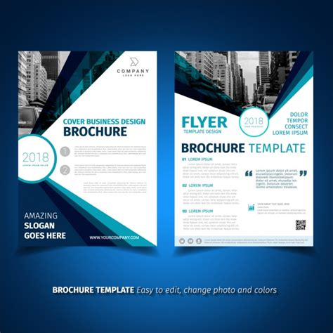 design your leaflet brochure template design vector free download