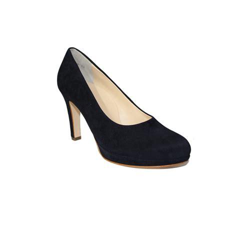 paul green navy blue high heel court shoe jojo boutique