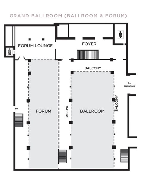 ballroom floor plan park central hotel meeting space in new york city