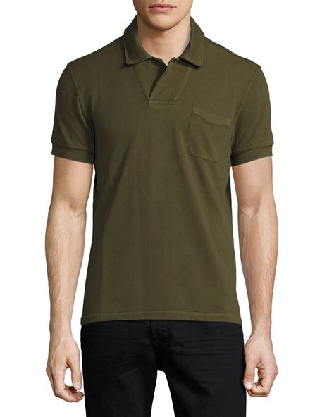 tom ford polo tom ford sleeve polo shirt in green for lyst