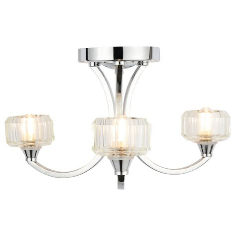 Electric Ceiling Light Fittings Endon Lighting Satin Ceiling Light Fitting