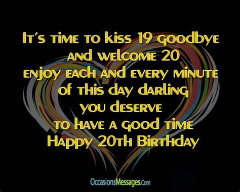 20th Birthday Quotes For Friends 25 Best Ideas About 20th Birthday Wishes On Pinterest