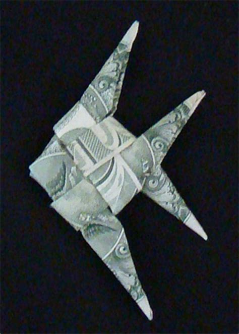 Origami Fish Dollar Bill - origami fish and sea creatures