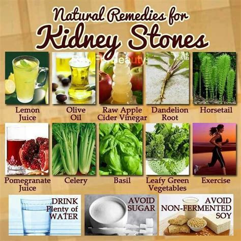 remedies for kidney stones remedies to