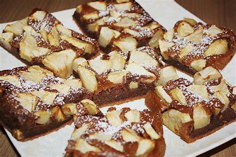 kuchen rezepte einfach schoko schoko apfel kuchen vom blech rezept mit bild