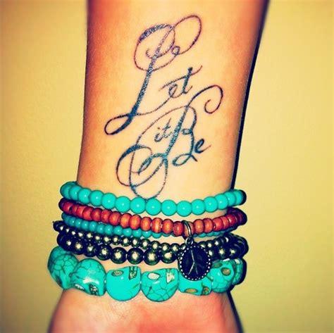 12 ?Let It Be? Tattoo Designs   Pretty Designs