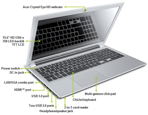 Laptop Acer Slim Touch Screen acer aspire v5 531p 15 6 quot touchscreen slim laptop 500gb 6gb windows 10 ebay